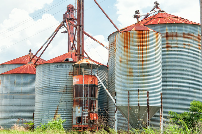 Storage silos in Williston, SC