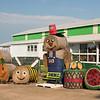 Hay bale display, Belue Farms, Boiling Springs, SC