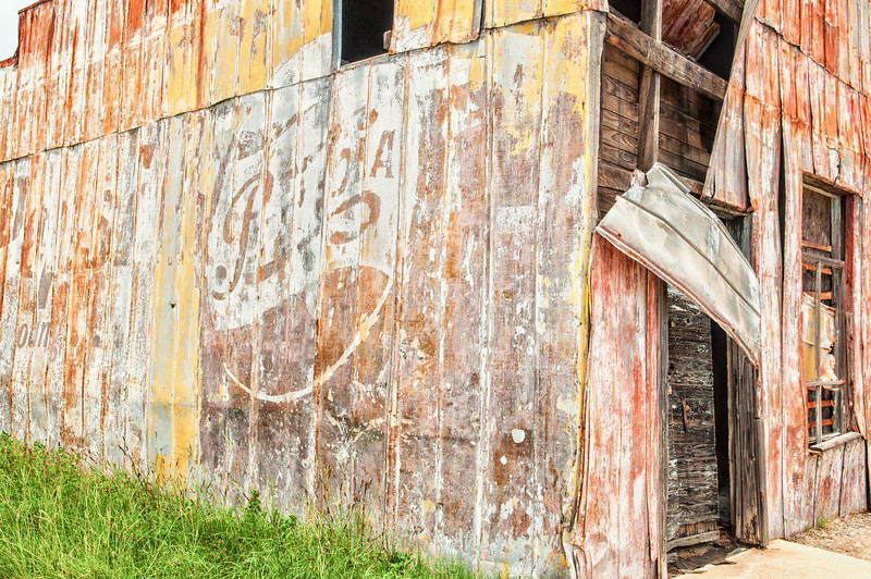 Remains of an old convenience store, no longer standing, Blackville, SC