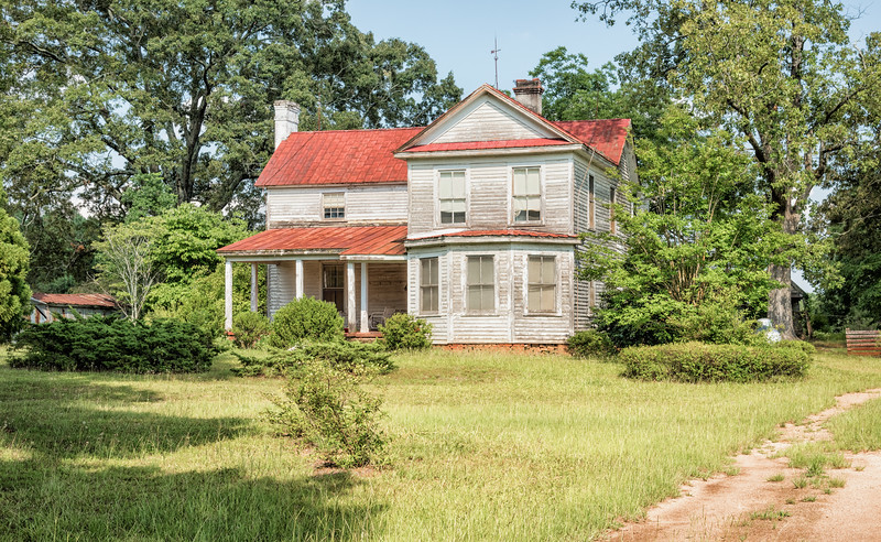 Old abandoned farm house, Highway SC178