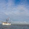 Shrimp Trawler dragging nets