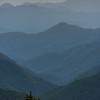 Last light over the Blue Ridge Mountains