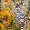 Linville River and Linville Gorge in the fall