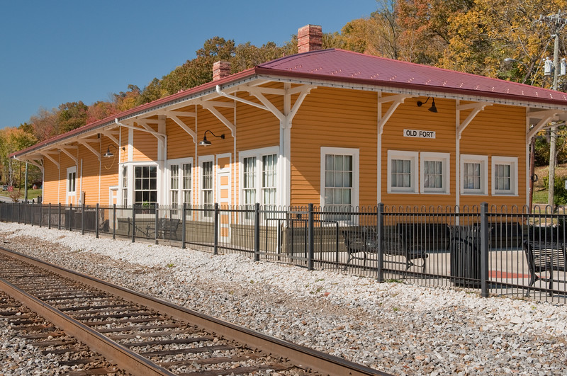 Old Fort, NC restored railway station