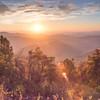 The sun rises over the Blue Ridge Mountains