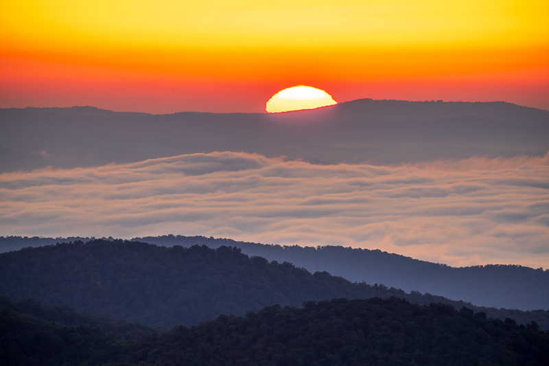 Sunrise from Pounding Mill Overlook