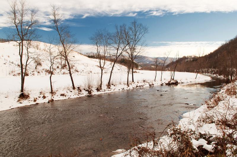 Winter scene in North Carolina