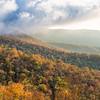 Fog Lifting over the Blue Ridge Mountains