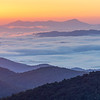 First light over the Blue Ridge Mountains