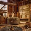 Interior of Mingus Mill, Cherokee, NC