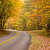 Blue Ridge Parkway in the fall, NC