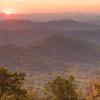 Dawn over the Blue Ridge Mountains