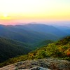 Sunset from Upper Overlook, Craggy Pinnacle