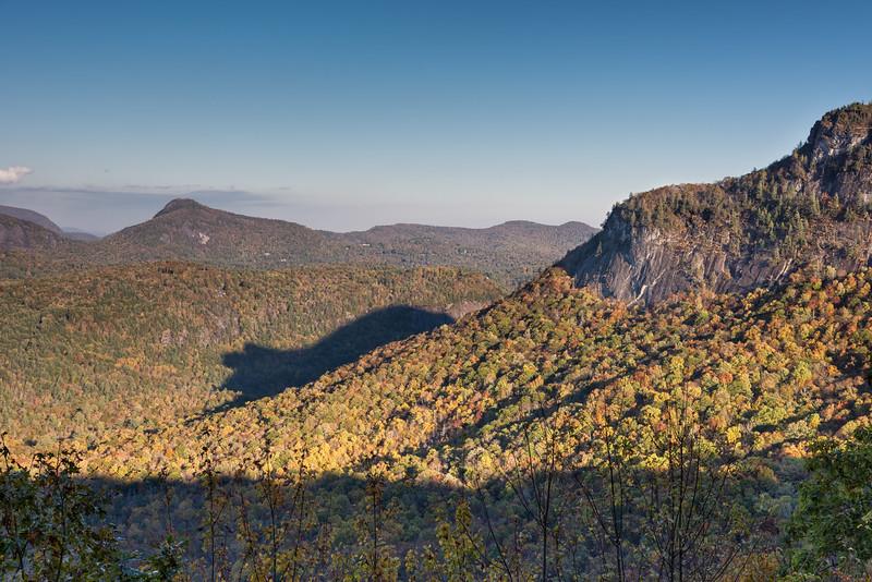 Shadow of the bear, Whiteside Mountain