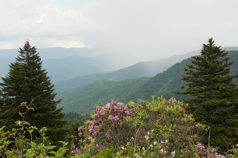 Rain over the Blue Ridge Mountains