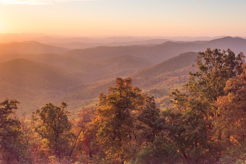 Dawn from the Blue Ridge Parkway, NC