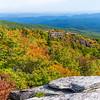 Rough Ridge Overlook and the Blue Ridge Mountains