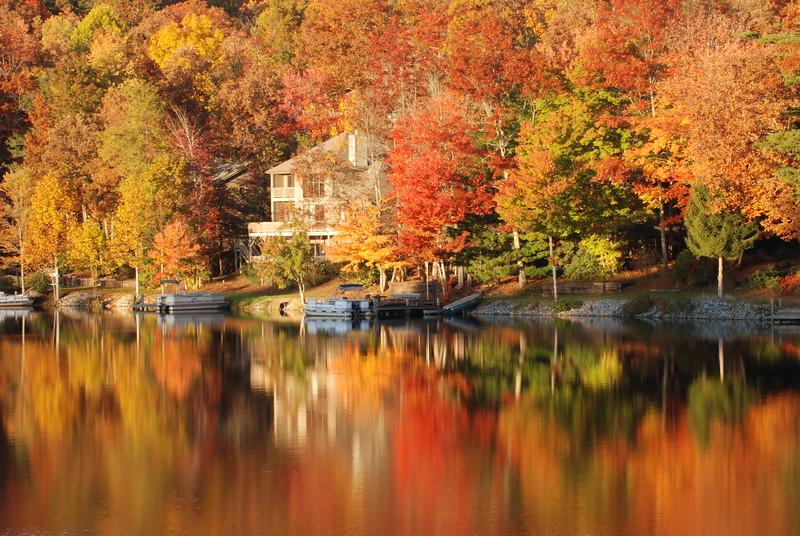 Fall at Lake Connestee