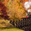 Tweetsie Locomotive steams across the trestle bridge