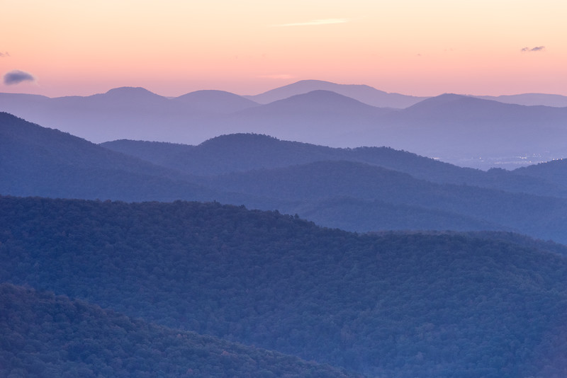 Pre-Dawn Colors on the Blue Ridge Parkway