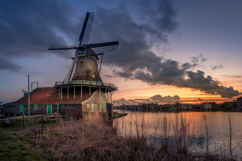 Windmill in the sunset