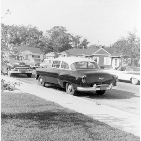 Our first car! - 1954 Chevy. Worked at Magnavox, Ft. Wayne IN 1955-1960. Had no car first year - rode to work with Don Netzley (now in Waverly OH).