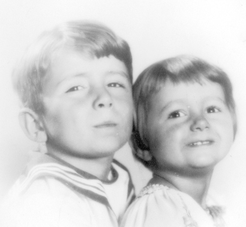 Jim Lacey and sister Joan in the early years.