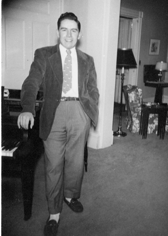 Jim Lacey III in Southbridge, MA family home - 1947 Photo.