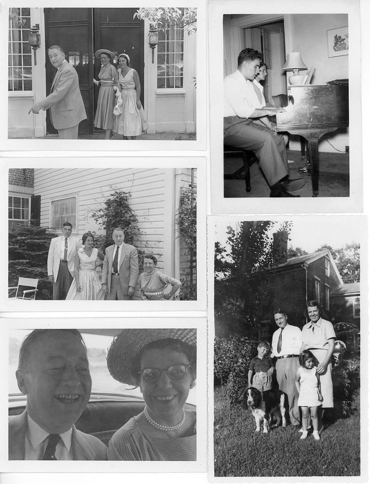 Collage of Lacey Family in Southbridge Massachusetts.