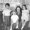 Charlotte VanCleve Lacey with children; L -> R, James T. Lacey III, John VanCleve Lacey, Joan Dillys (Tallman) Lacey at the family home, 313 South Street Southbridge, Massachusetts. Circa 1940.
