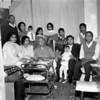 back- Farooq Meyer, Tassawer Meyer, Ghazala, Akhtar Meyer, Zarrar Meyer, Alamgi Meyer.  Front - Razia(Qadir's sister), Razia Meyer, Bara Baoji, Qadir and Abdullah Meyer