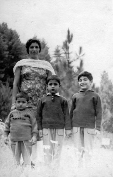 Mummy with the three boys.  L to R, Ahsan, Asjad, Amer