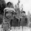 Mummy with the three boys.  L to R, Ahsan, Asjad, Amer