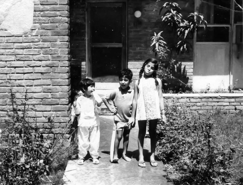 Bisma, Shahid and Saadia in Mangla.
