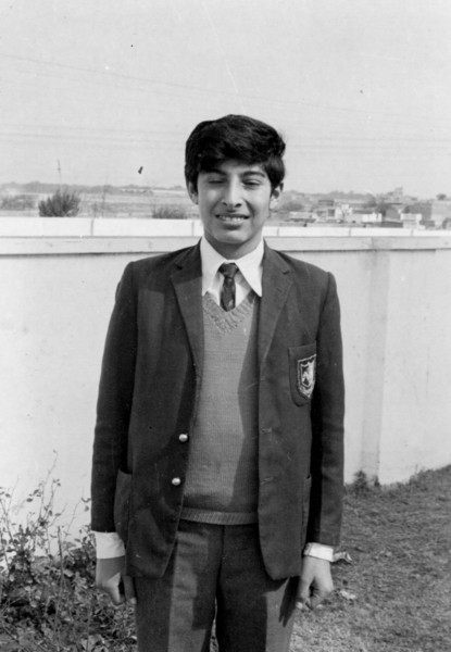 Amer Iqbal in his St. Mary's Academy uniform in Civil Lines House.