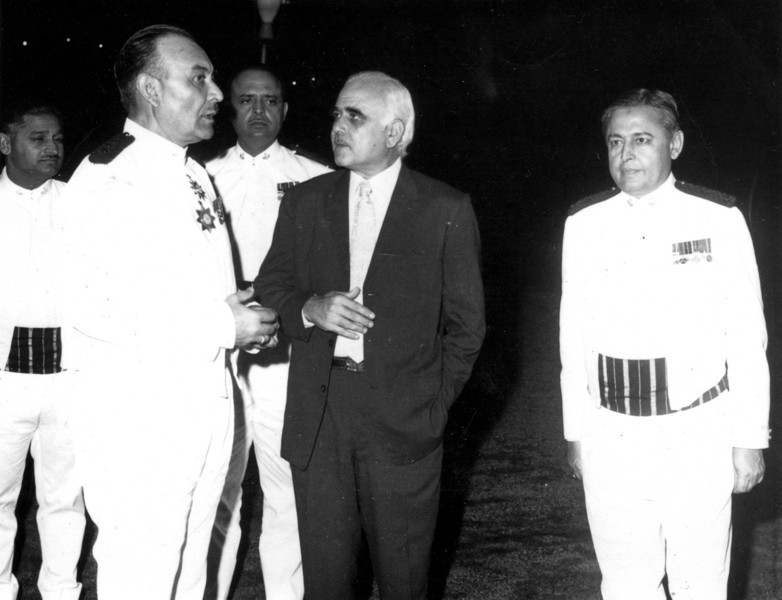 CO's Conference 1973.  Daddy on the far left.  Picture by Capt. Ghulam Ahmad Khan.