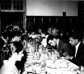 Ayub Khan's dinner at Lawrence College,Ghora Gali.  Aunty Perveen on left with Daddy one over.