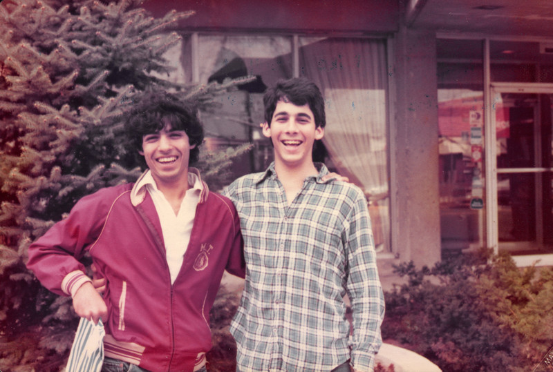 With Mike New in Yale.  Our first race as Freshman against Yale.  Spring 1981.