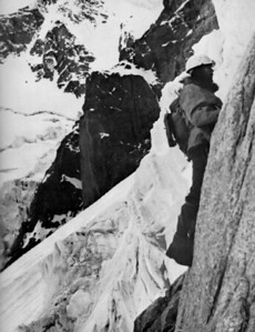 "Sabir Kamal Meyer with the Norwegian Trich Mir Expedition.  Credit ""Opp Stupet Til Osttoppen Av Tirich Mir"" by Arne Naess"