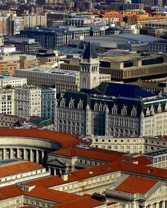 At 315ft (96m) tall, the Old Post Office Pavillion is the largest commercial building and the third tallest structure in Washington D.C.