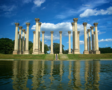 The National Capitol Columns originally supported the old East Portico of the United States Capitol (1828). The columns were removed during expansion of the Capitol in 1958 and are currently located in the United States National Arboretum, Washington, DC.