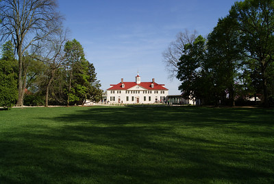 Mount Vernon, located near Alexandria, Virginia, was the plantation home of the first President of the United States, George Washington. The mansion is built of wood in neoclassical Georgian architectural style, and the estate is located on the banks of the Potomac River.