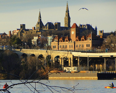 Georgetown's three urban campuses feature traditional collegiate architecture and layout, but prize their green spaces and environmental commitment. The main campus is known for Healy Hall, a designated National Historic Landmark.