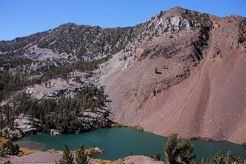 Beyond the headwall of Laurel Canyon lie Laurel Lakes, 2 bodies of water that supply Laurel Creek and its colorful willows, cottonwoods and aspen. I'd parked my truck off the road and hiked the last mile or so, wanting to give the Tundra a rest from all the jolting.
