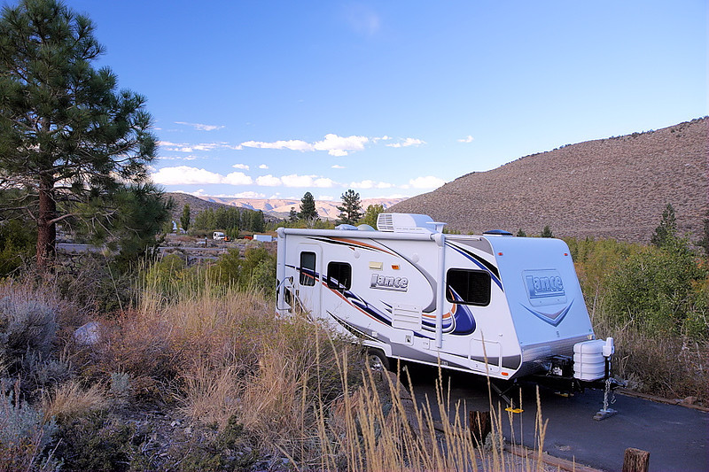 Back at my site at Convict Lake campground. The past weekend being the long Columbus Day holiday, the campground had been full, but emptied during the week in time for my visit.