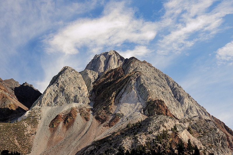 Mt. Morrison is one of the landmarks soaring over Convict Lake. Here it is in late afteroon.