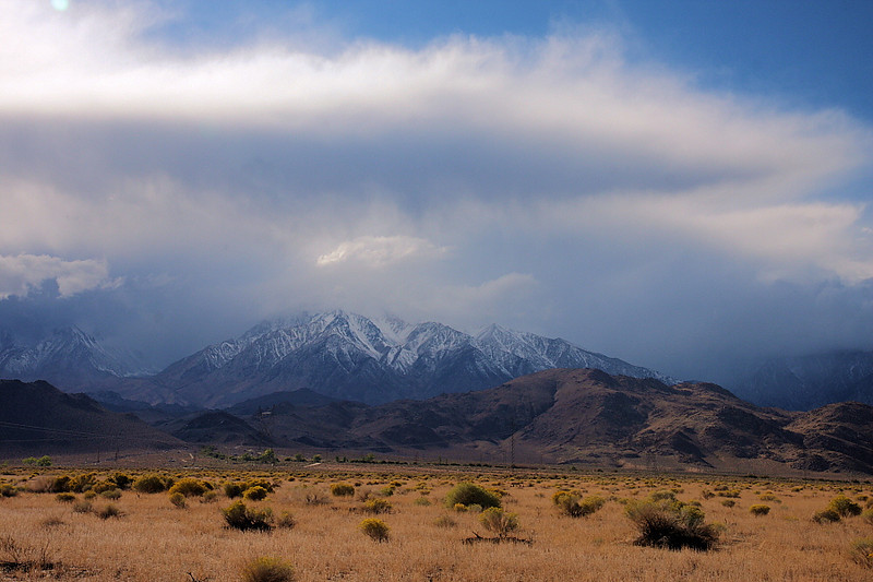 One of the many fascinating cloud formations, this one over Mt. Humphreys.