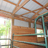 Glenn's stall... elecrical outlets above stall on outer wall. One in the corner far right; the other closer to the main barn door.