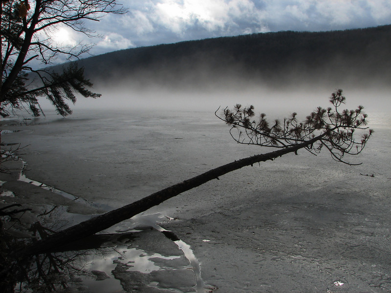 Ice melting, Canadice Lake NY.