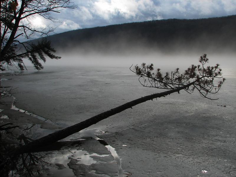 Ice melting, Canadice Lake NY.